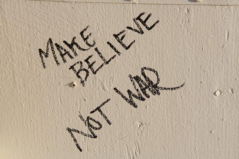 Make believe, not war.