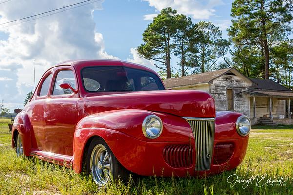 Red Car in South Georgia