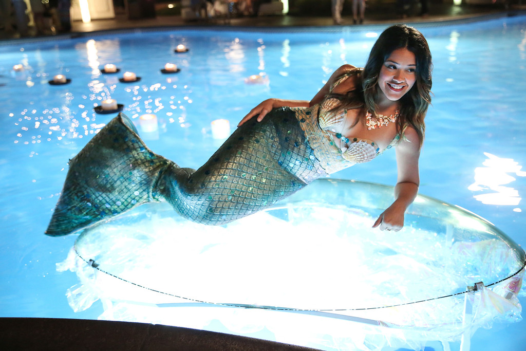 """. In this image released by The CW, Gina Rodriguez portrays Jane in the new series, \""""Jane The Virgin.\"""" The show was nominated for a Golden Globe for best comedy series on Thursday, Dec. 11, 2014. The 72nd annual Golden Globe awards will air on NBC on Sunday, Jan. 11. (AP Photo/The CW, Tyler Golden)"""