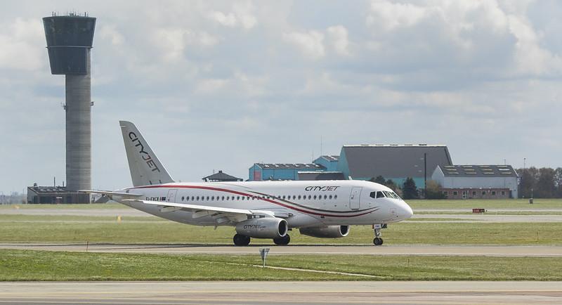 Sukhoi Superjet 100-95B EI-FWC in Kopenhagen/DK.