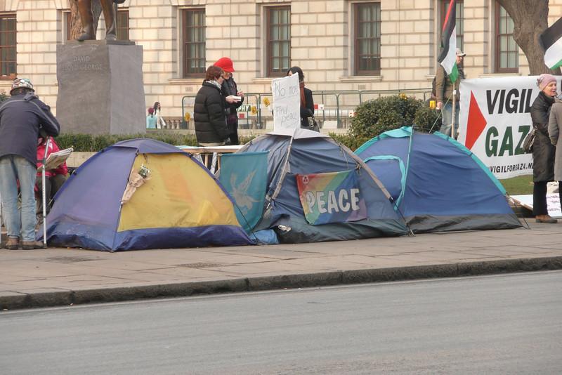Anti-war Protest. Parliament Square, London
