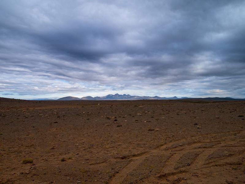Kjölur road (Road F35) and a Martian landscape