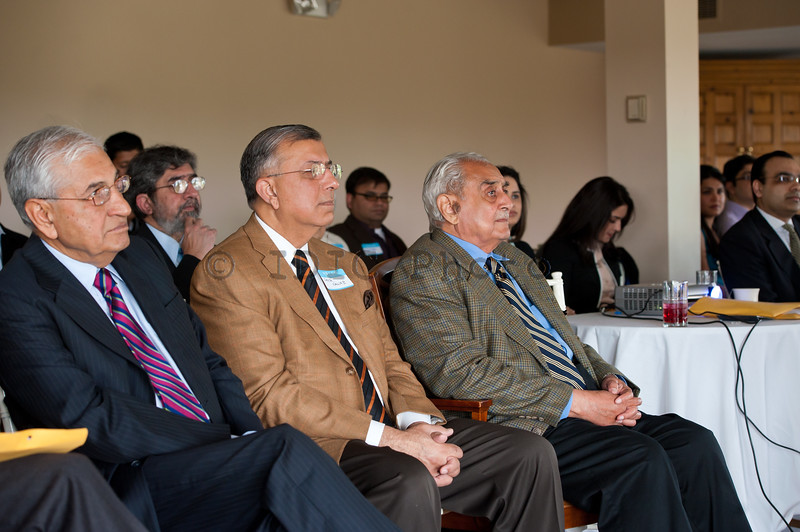 Syed Babar Ali with Mr Shuja Nawaz and other guests