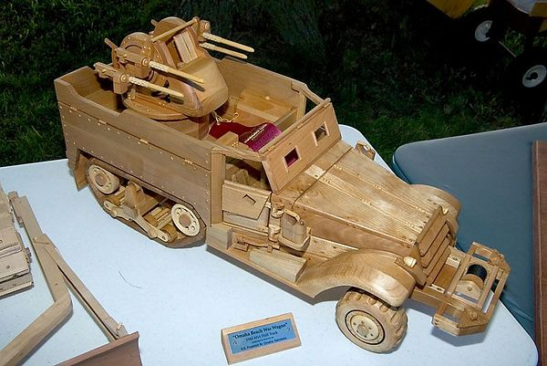 ...scale model half-track truck.Return to Woodworkers Guild