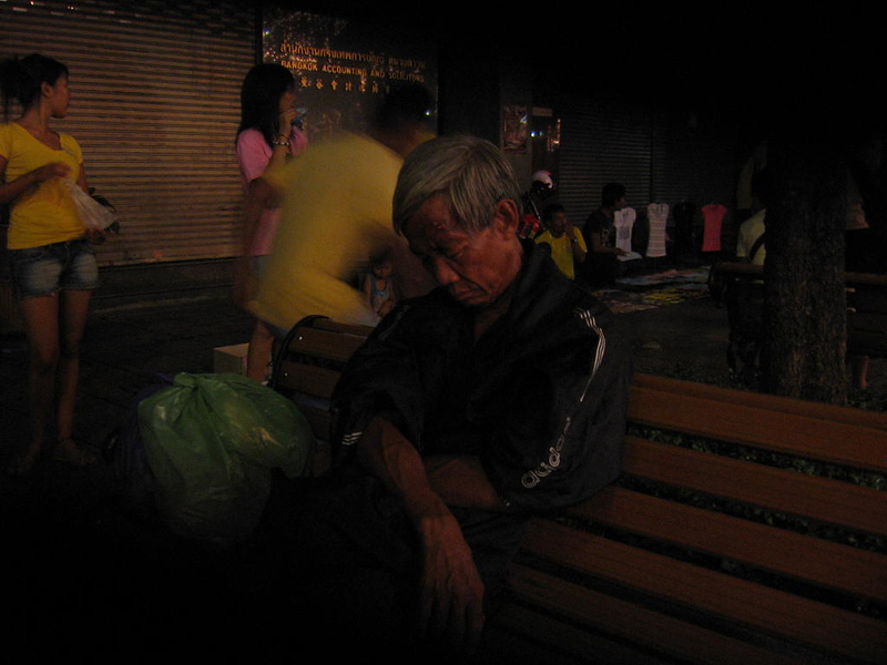 At some age, a good nap is more important than all the pretty girls.  Bangkok.