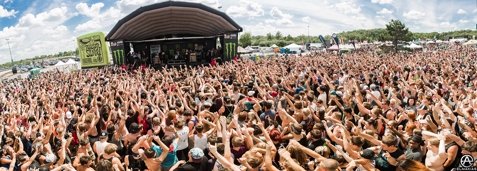 Beartooth live at Vans Warped Tour 2015 by Adam Elmakias