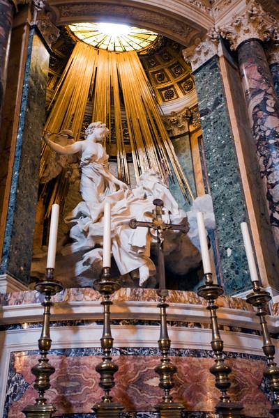 The Ecstasy of St. Teresa, by Bernini, Santa Maria della Vittoria church, Rome