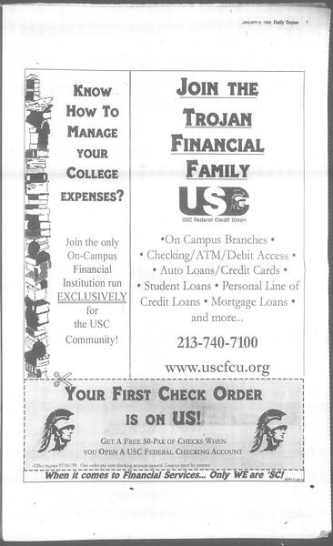 Daily Trojan, Vol. 133, No. 1, January 08, 1998