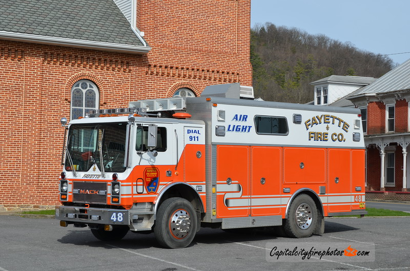 Fayette Fire Co., McAlisterville AIr 48: 1988 Mack R/Saulsbury (X-Patterson, NY)