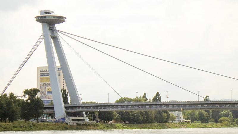 """Flying Saucer"" bridge in Bratislava, Slovakia"