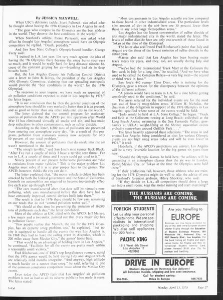 SoCal, Vol. 61, No. 104, April 13, 1970