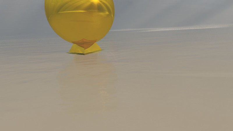 Gold Statue 6 : A Computer Generated Image from Daily Animation