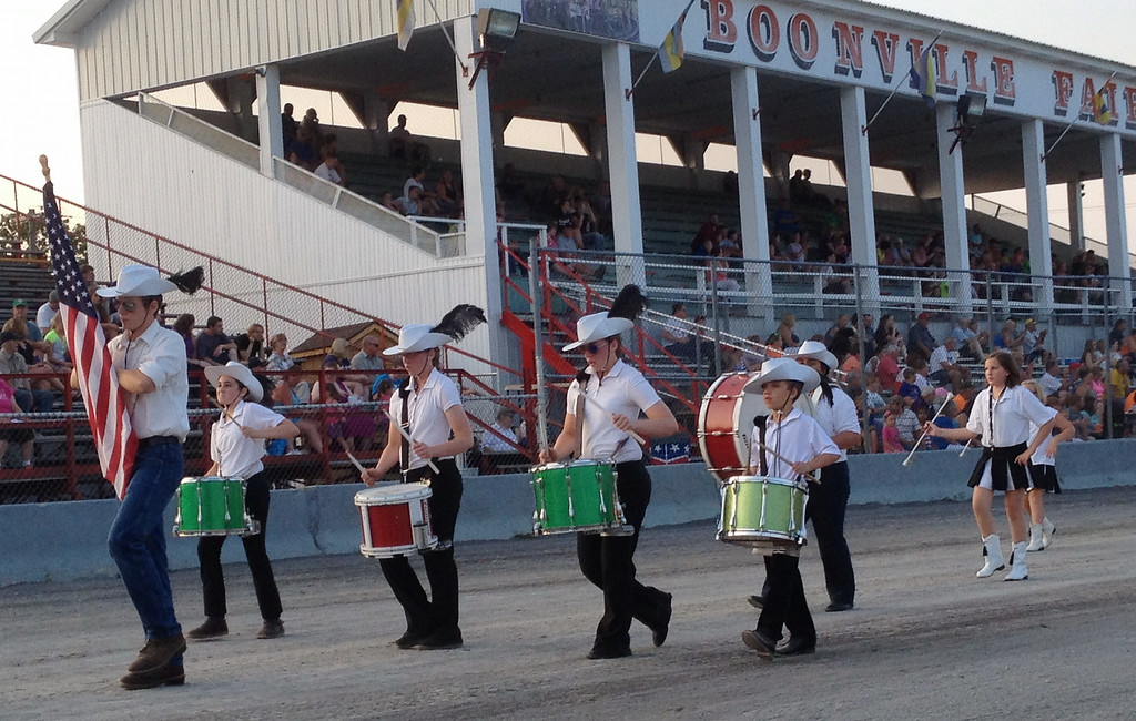 . Black River Drummers and Twirlers  take part in the annual parade at the Boonville Oneida County Fair on Tuesday, July 22, 2014 in Boonville. the fair runs through Sunday, July 27, 2014.  JOHN HAEGER-ONEIDA DAILY DISPATCH @ONEIDAPHOTO ON TWITTER