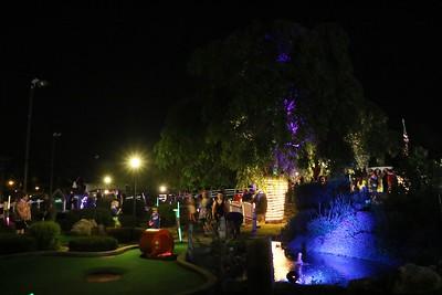 Glow Ball Miniature Golf night