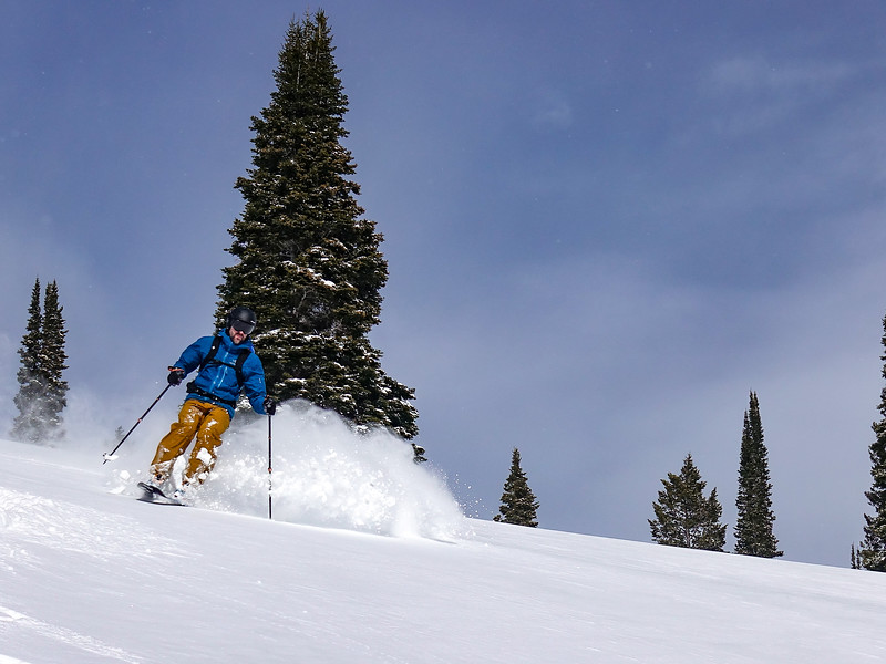 Skiing in the Tetons