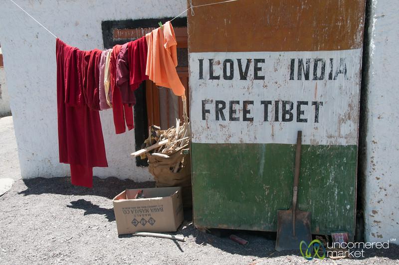 I Love India, Free Tibet - Likir Monastery, Ladakh