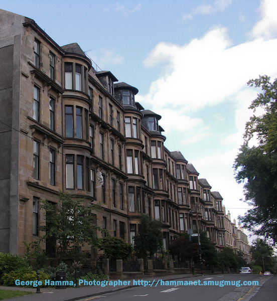 Just beyond the library, one passes a block of victorian buildings, some parts of which are student housing.