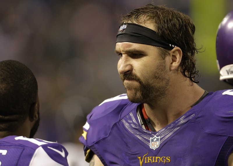". <p><b> Free agent defensive end Jared Allen still has not found a new team for 2014. He appears very hesitant to sign with Seattle because the Seahawks are asking him to � </b> <p> A. Take a 50 percent pay cut from what he earned with the Vikings <p> B. Play only on passing downs <p> C. Also serve as Russell Wilson�s driver and valet <p><b><a href=\' http://www.twincities.com/sports/ci_25414535/jared-allen-seahawks-still-waiting-free-agents-decision\' target=""_blank\"">HUH?</a></b> <p>   (AP Photo/Ann Heisenfelt)"