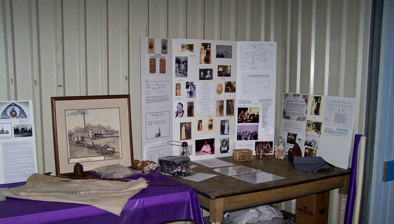 The Gorney Corner Memorabilia With Old table Once Used In The Andrew Gorney Home