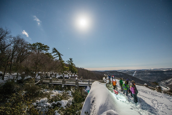 Moonlit XC Skiing at Coopers Rock