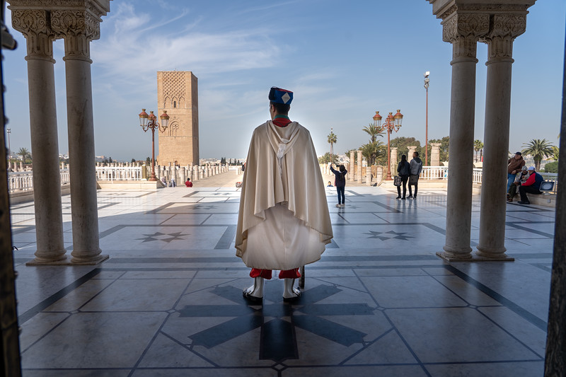 Guard at Mausoleum of Mohammed V in Rabat