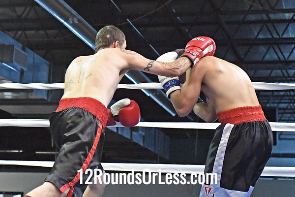 Bout #5: Ammy Boxing, Richie Loew, Red Wrist Wraps, 154 Lbs -vs- Wesley Roberts, Blue Wrist Wraps,156 Lbs