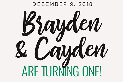 Brayden & Cayden Are One 12/9/18