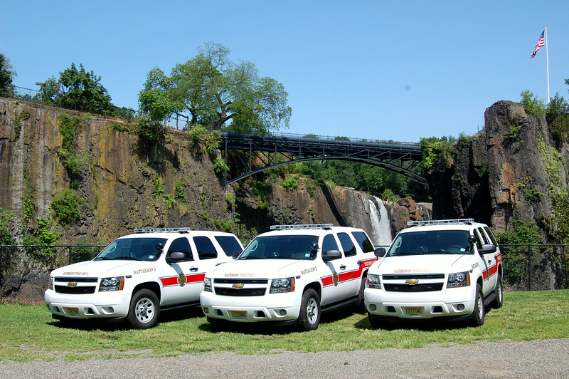 Paterson Battalion's 1, 2, & 3 2014 Chevy Tahoe's. Photo by Chris Tompkins.JPG