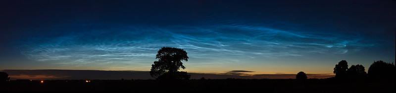 July 09 2010. Stunning Noctilucent display and the best thus far I have ever witnessed. The early evening display commenced about 2230hrs and maintained good overhead visibility before dwindling on the low northern horizon at approx 0100hrs on July 10th. At its peak the display must have been close to 70 deg above horizon, almost directly overhead. It was full of mesmorising waves and crooked curves and sustained a very deep electric blue colour. Once again summer skies were temporarily turned into daylight. A brilliant evening. Captured with Oly E3 and combination of 12-60mm/50-200mm SWD lenses. Fastest aperture, all 2.5s and ISO 320.
