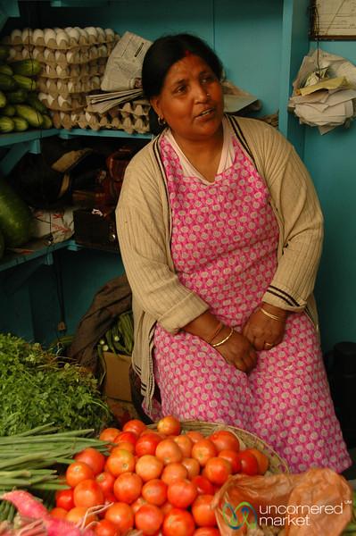 Market Vendor in Darjeeling, India