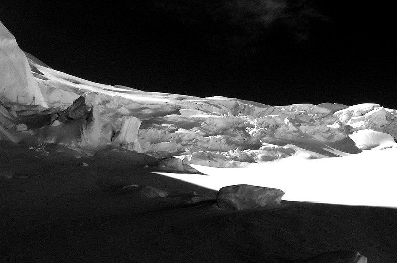 The Anna glacier, Mt Elie de Beaumont, New Zealand