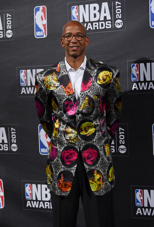 . Sager Strong Award winner, Monty Williams, poses in the press room at the 2017 NBA Awards at Basketball City at Pier 36 on Monday, June 26, 2017, in New York. (Photo by Evan Agostini/Invision/AP)