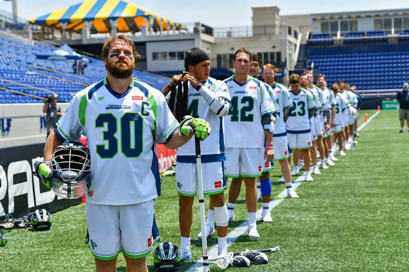 July 19, 2020 Annapolis, MD - Navy-Marine Corps Memorial Stadium Chesapeake Bayhawks vs New York Lizards. Photography Credit: Alex McIntyre