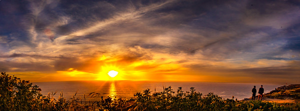 PPS - Sunset at Torrey Pines Glider Point, Apr 7, 2019