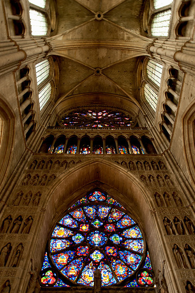 inside the Cathedral at Reims