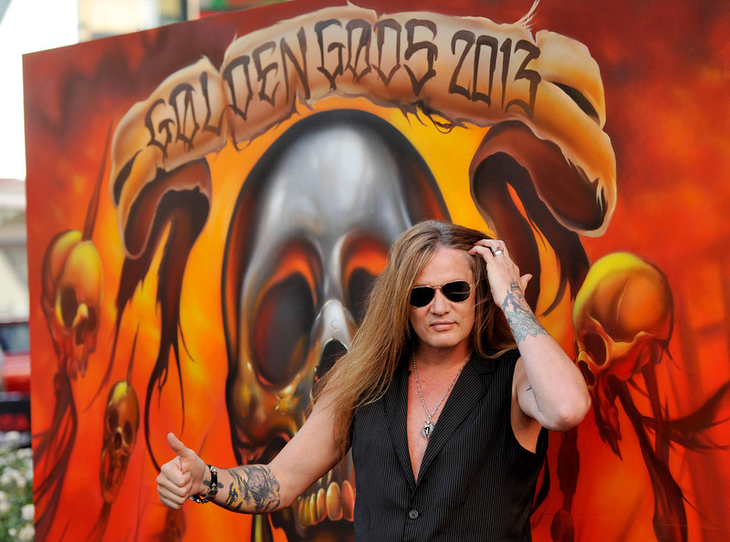 . Singer Sebastian Bach poses before the 2013 Revolver Golden Gods Award Show at Club Nokia on Thursday, May 2, 2013 in Los Angeles. (Photo by Chris Pizzello/Invision/AP)