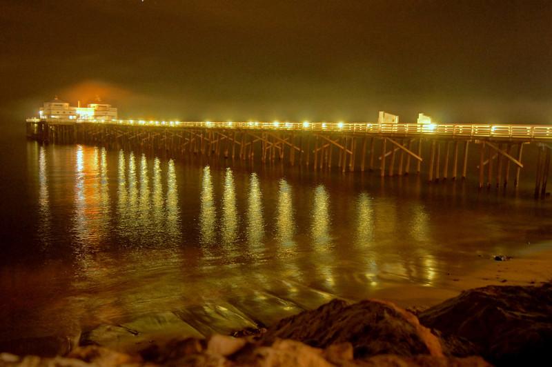 HDR Socal Malibu Landscapes: The Malibu Pier at Night!