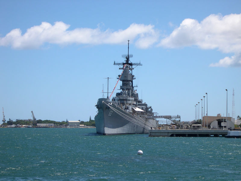 The U.S.S. Missouri.  Japan's unconditional surrender took place on her deck.