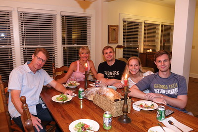 Family Gathering for Alex's Graduation & trip to Atlanta Aquarium