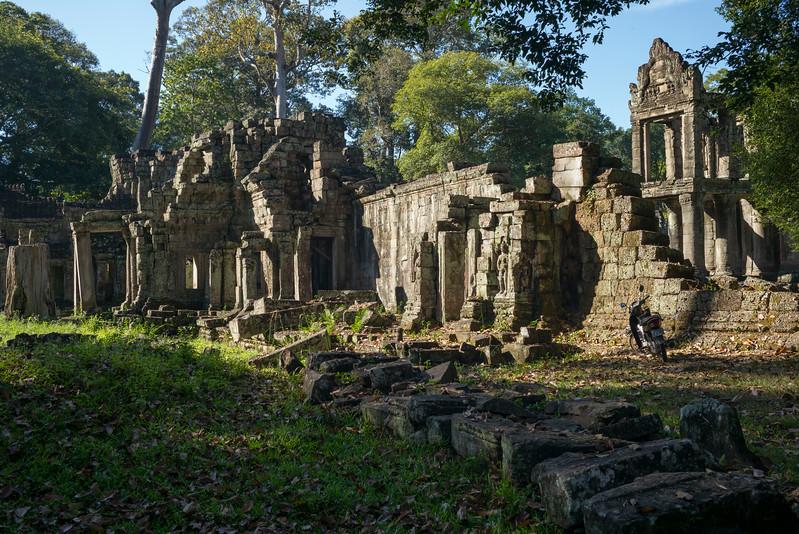 Ruins of temple, Krong Siem Reap, Siem Reap, Cambodia