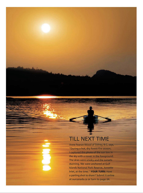 "June 2013 ""Our Canada"" magazine back cover. Canada, national magazine."
