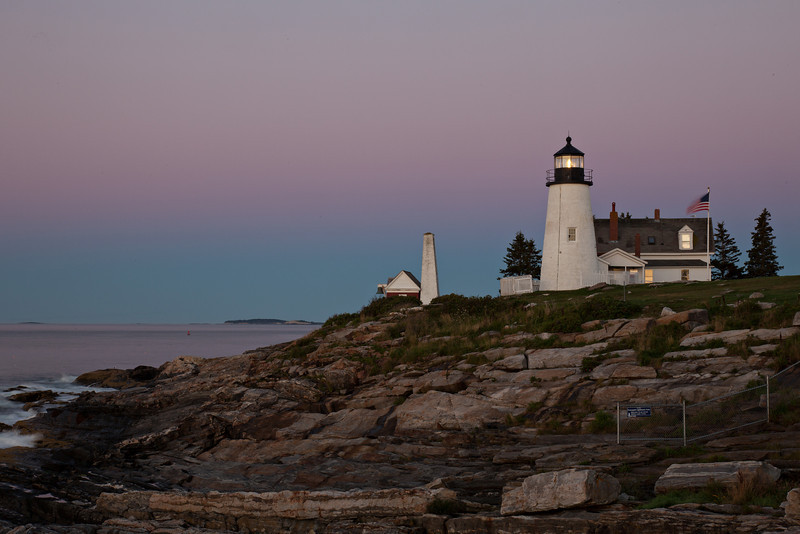 Pemaquid Point Light House --just before sunrise.