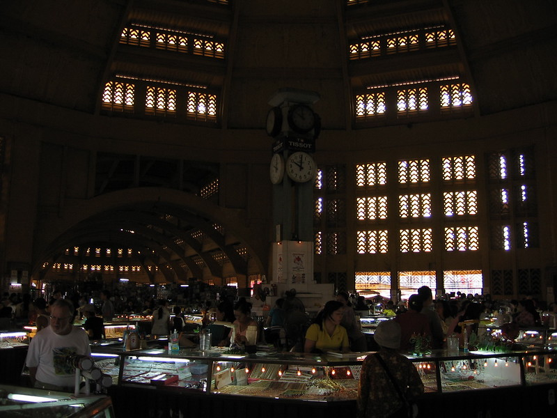 Inside the Central Market.