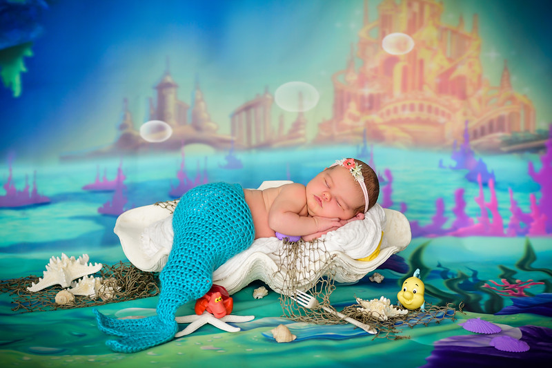 newborn little mermaid