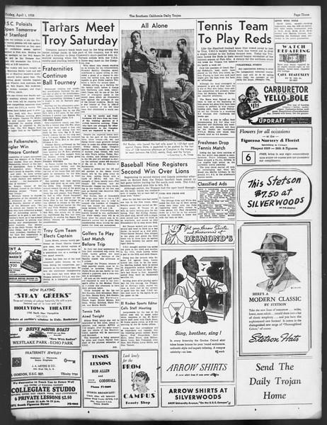 Daily Trojan, Vol. 29, No. 111, April 01, 1938