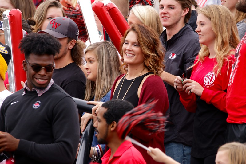 Students and people from the community filled the stands in support of the Runnin' Bulldogs.