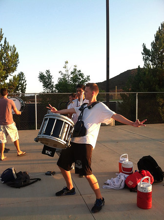 Aug 23, 2012 Marching Band Rehearsal