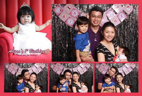 Arissa Lee's 1st birthday party Photobooth
