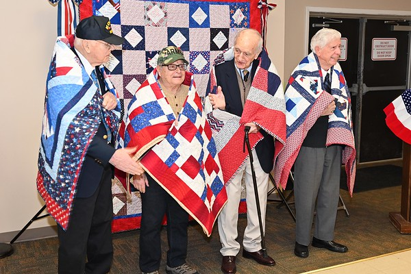 Quilts of Valor Ceremony - February 22, 2020