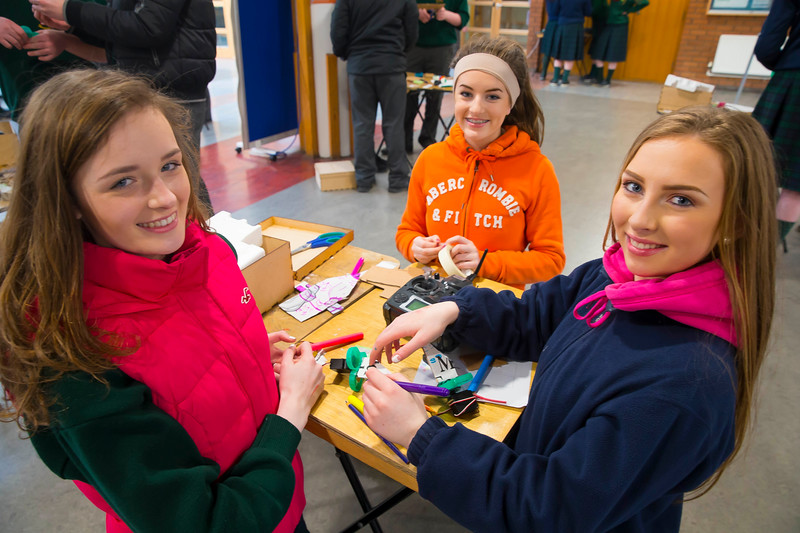 Pictured at WIT (Waterford Institute of Technology) at Engineers Week are Stacey Whelan, Emily Phelan and Louise Murphy from St. Marys Secondary School, New Ross. Picture: Patrick Browne